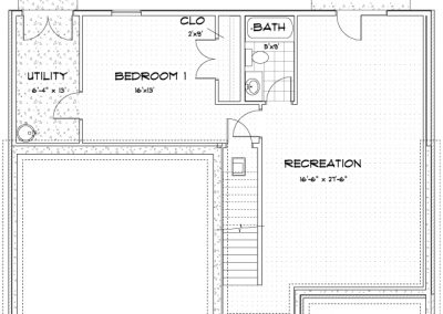 Lot 23 SV - The Wyatt Finished Basement - A1 Basement Plan